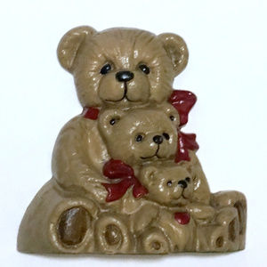 Teddy Bear Family Cast Iron Doorstop Door Stopper
